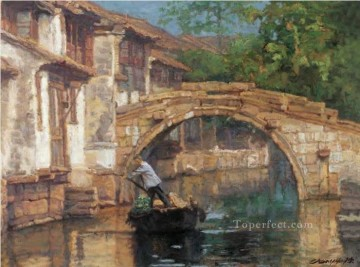 Love of Zhouzhuang Ancient Town Shanshui Chinese Landscape Oil Paintings
