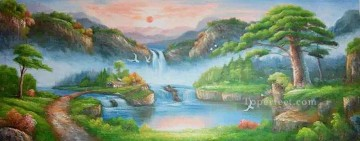 Chinese Painting - Sunset in Fairyland Chinese Landscape