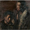 Father and Son Chen Yifei Tibet