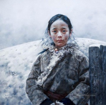 Girl AX Tibet Oil Paintings