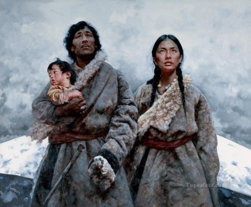 Holy Mountain AX Tibet Oil Paintings