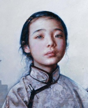 Chinese Painting - Little Tibetan Girl AX Tibet