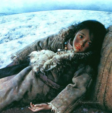 Quiet tundra AX Tibet Oil Paintings