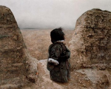 Waiting the Return AX Tibet Oil Paintings