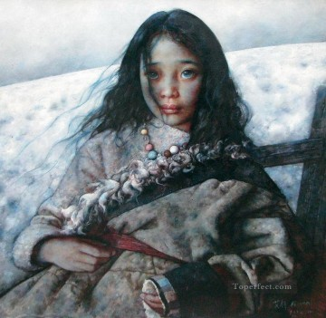 AX Painting - Wilderness after Snow AX Tibet