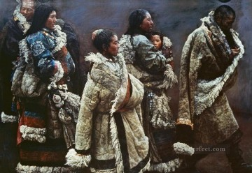 Mountain Wind 1994 Chen Yifei Tibet Oil Paintings