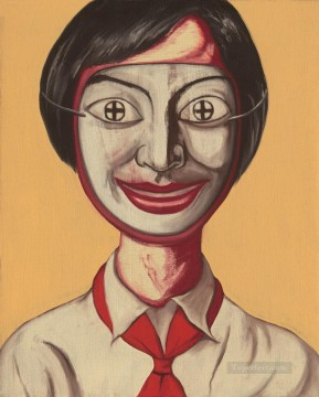 Woman behind Mask ZFZ from China Oil Paintings