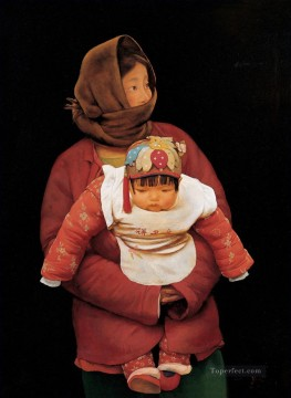 Mother and Child WYD Chinese Oil Paintings