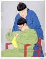 la balance chinois 1939 Paul Jacoulet China Subjects