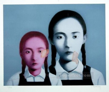 Chinese Painting - two sisters 2003 ZXG from China