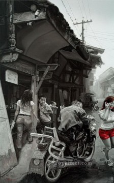 Spring Street from China Oil Paintings