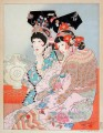 dans la loge officielle 1942 Paul Jacoulet China Subjects
