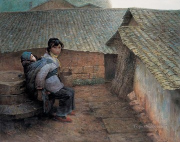 Farmyard at Hometown LZL from China Oil Paintings