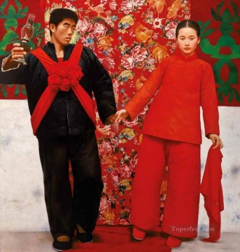 Bride in Mountains WYD Chinese Oil Paintings