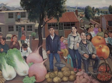 Town Market from China Oil Paintings