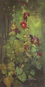 Agathon to Erosanthe John LaFarge floral Oil Paintings