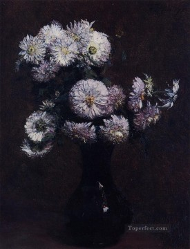 Latour Canvas - Chrysanthemums painter Henri Fantin Latour floral