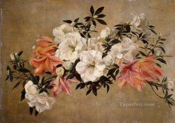 Petunias painter Henri Fantin Latour floral Oil Paintings