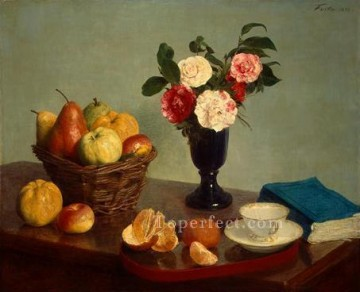 Still Life 1866 painter Henri Fantin Latour floral Decor Art