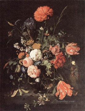 Vase Of Flowers 1 Jan Davidsz de Heem floral Oil Paintings