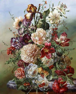 Classic Flower Painting - fl049E classic flower