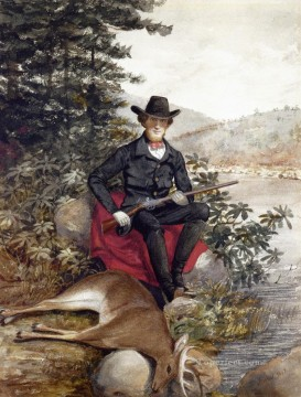 Hunting Painting - Alvan Fisher xx The Hunter A Self Portrait