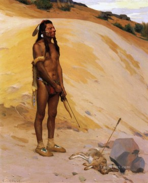 E Irving Couse xx An Indian Hunter Oil Paintings