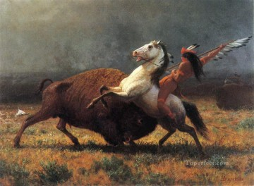 Hunting Painting - american indians hunting