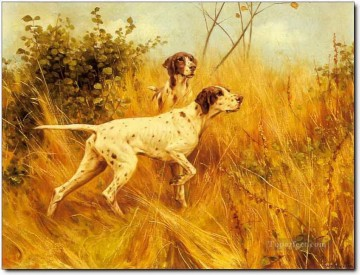 Hunting Painting - hunter dogs 34