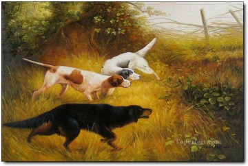Gdr0002 classical hunting Oil Paintings