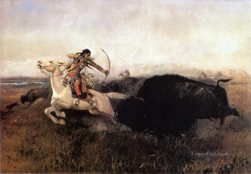 Hunting Painting - American western indians 58 Indian courser