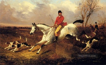 Hunting Painting - Over The Brook John Frederick Herring Jr horse cynegetic