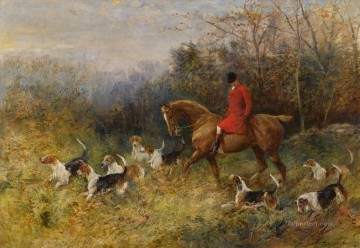 Classical Painting - The Draw Heywood Hardy hunting