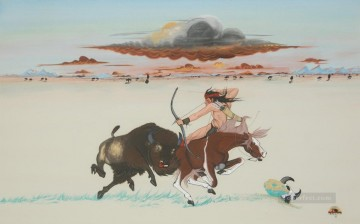 Hunting Painting - hunt wild cattle