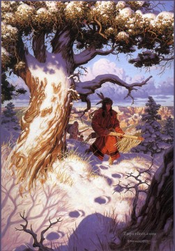 Hunting Painting - native americans hunting