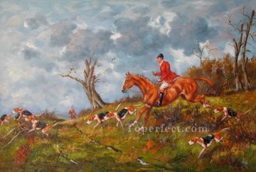 Hunting Painting - Gdr012bD13 classical hunting