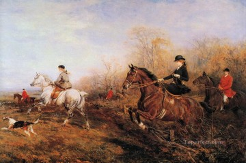Classical Painting - Out for a Scamper Heywood Hardy hunting