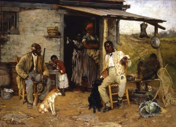 Hunting Painting - Richard Norris Brooke Dog Swap 1881 cynegetics