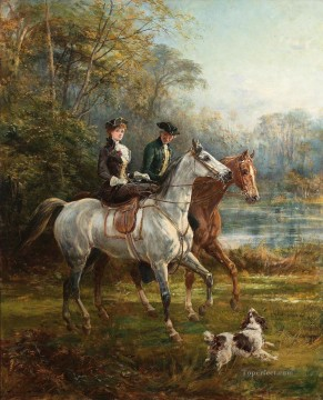 Classical Painting - The Morning Ride 2 Heywood Hardy hunting
