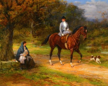 Hunting Painting - heywood hardy poverty and priviledge cynegetic