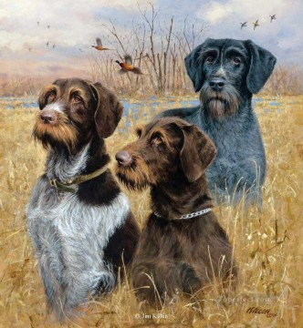 Hunting Painting - hounds and mallards cynegetics