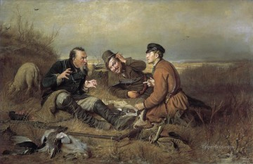 Hunting Painting - hunters at rest 1871