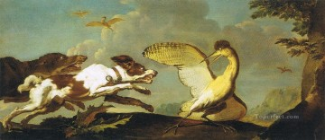 dog dogs Painting - hunting dogs to birds
