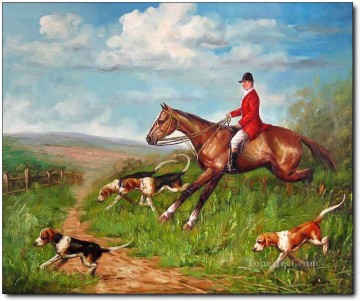 Gdr0014 classical hunting Oil Paintings