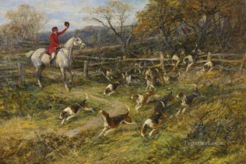 Classical Painting - BREAKING COVER Heywood Hardy hunting