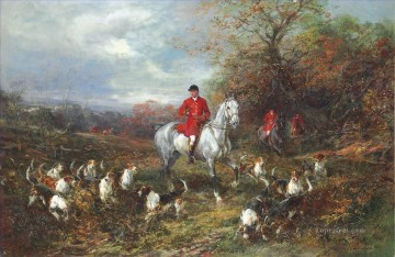 Drawing Cover Heywood Hardy hunting Oil Paintings