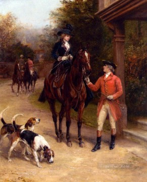 Hunting Painting - Hardy Heywood A Hunting Morn