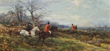 Classical Painting - On the scent Heywood Hardy hunting