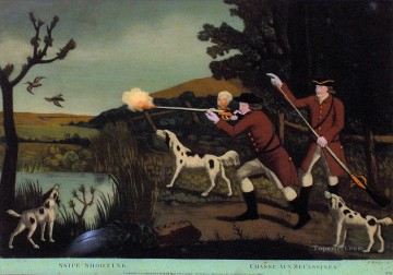 Hunting Painting - chasse acx snipe shootings cynegetic