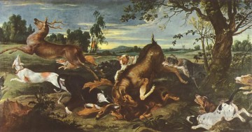 Hunting Painting - deer hunting